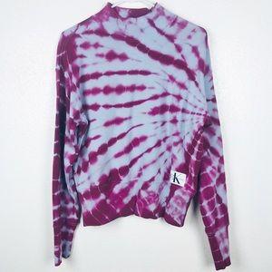 Calvin Klein | Tie Dye High Neck Sweatshirt M